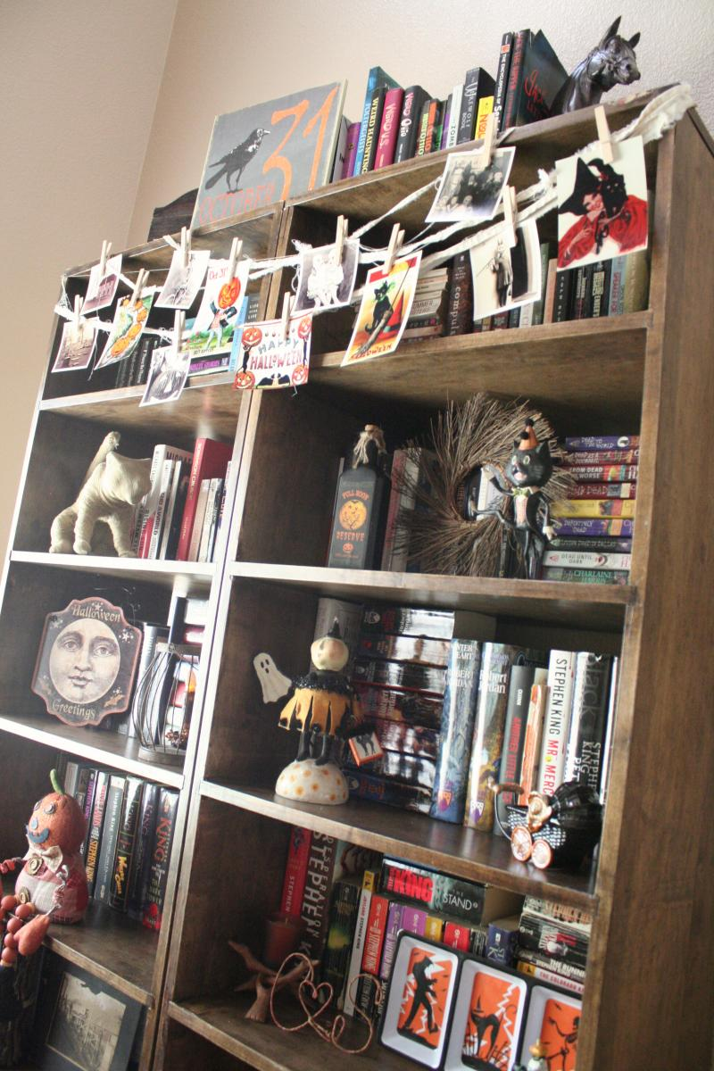 Halloween Bookshelves